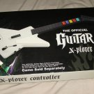 Guitar Hero Xbox 360 X-Plorer Controller Wired White Guitar in box