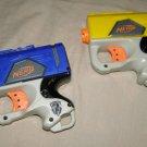 x2 Hasbro Nerf N-Strike Reflex Mini Dart Gun Blaster Pistol Single Shot