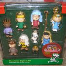 Peanuts Christmas Pageant Nativity Play Set 9 pcs Charlie Brown Snoopy Linus