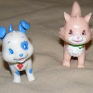 "Strawberry Shortcake Custard Cat & Pupcake Dog 2"" doll pets BanDai"