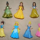 Disney Princess Magiclip magic clip Polly Pocket 6 Dolls + 7 outifts