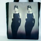 Audrey Hepburn Retro Mirror Classic Tote Shoulder Bag Purse L