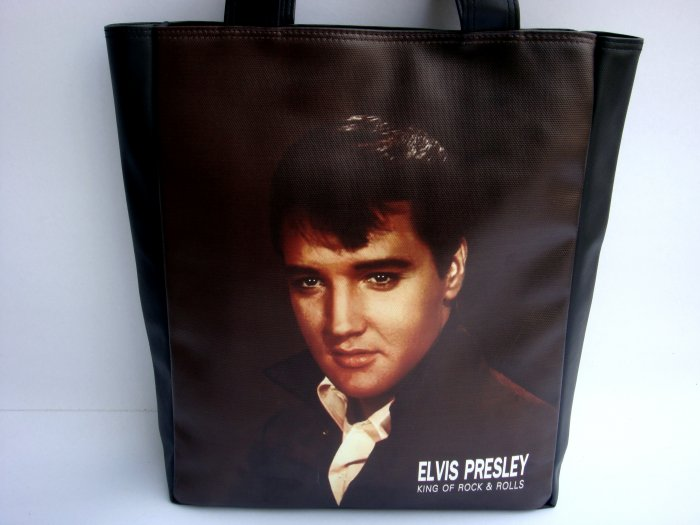 Elvis Presley King of Rock Large Tote Shoulder Bag Purse