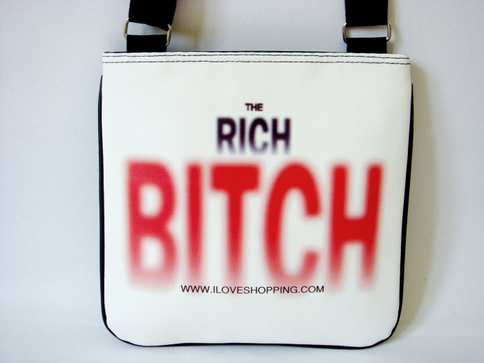The Rich Bitch Cool Fashion Messenger Sling Bag Purse