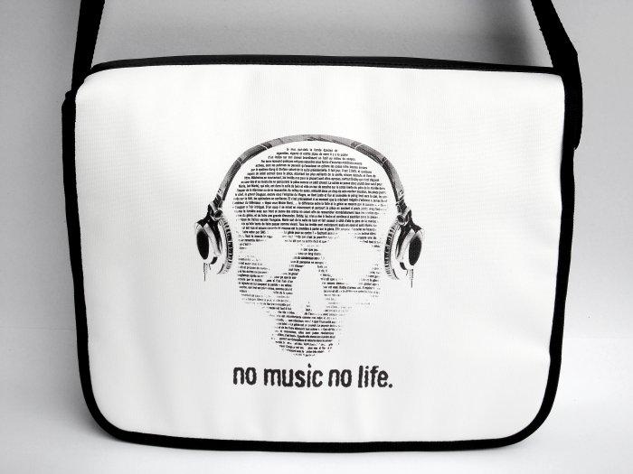 """No Music No Life 15"""" Laptop Notebook Shoulder Case Bag"""