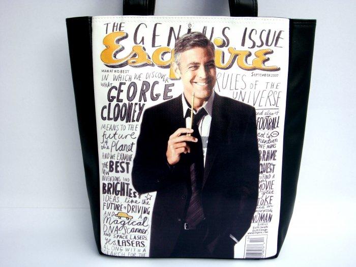 George Clooney Esquire Magazine Tote Shoulder Bag Purse