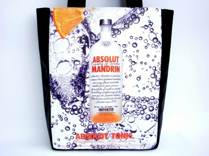 Absolut Mandrin Sweden Bubbles Tote Shoulder Bag Purse