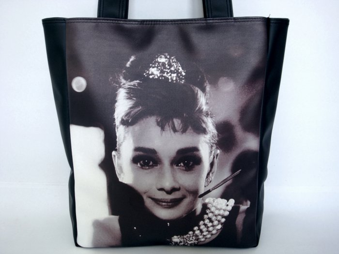 Audrey Hepburn Breakfast At Tiffany's Large Tote Bag Purse