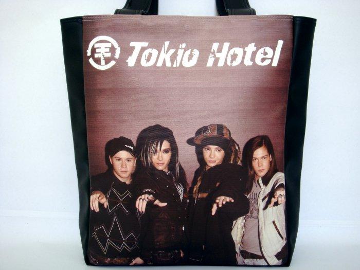 Tokio Hotel Pop Rock Music Band Emo Large Shoulder Tote Bag Purse