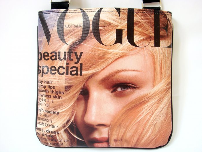 Vogue Magazine Top Model Fashion Messenger Sling Bag Purse