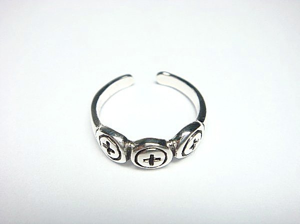 925 Sterling Silver Cross Design Adjustable Toe Ring