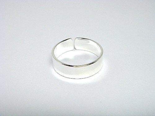 925 Sterling Silver Classic Band Adjustable Toe Ring