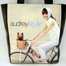 Audrey Hepburn Retro Bicycle Large Tote Shoulder Bag Purse