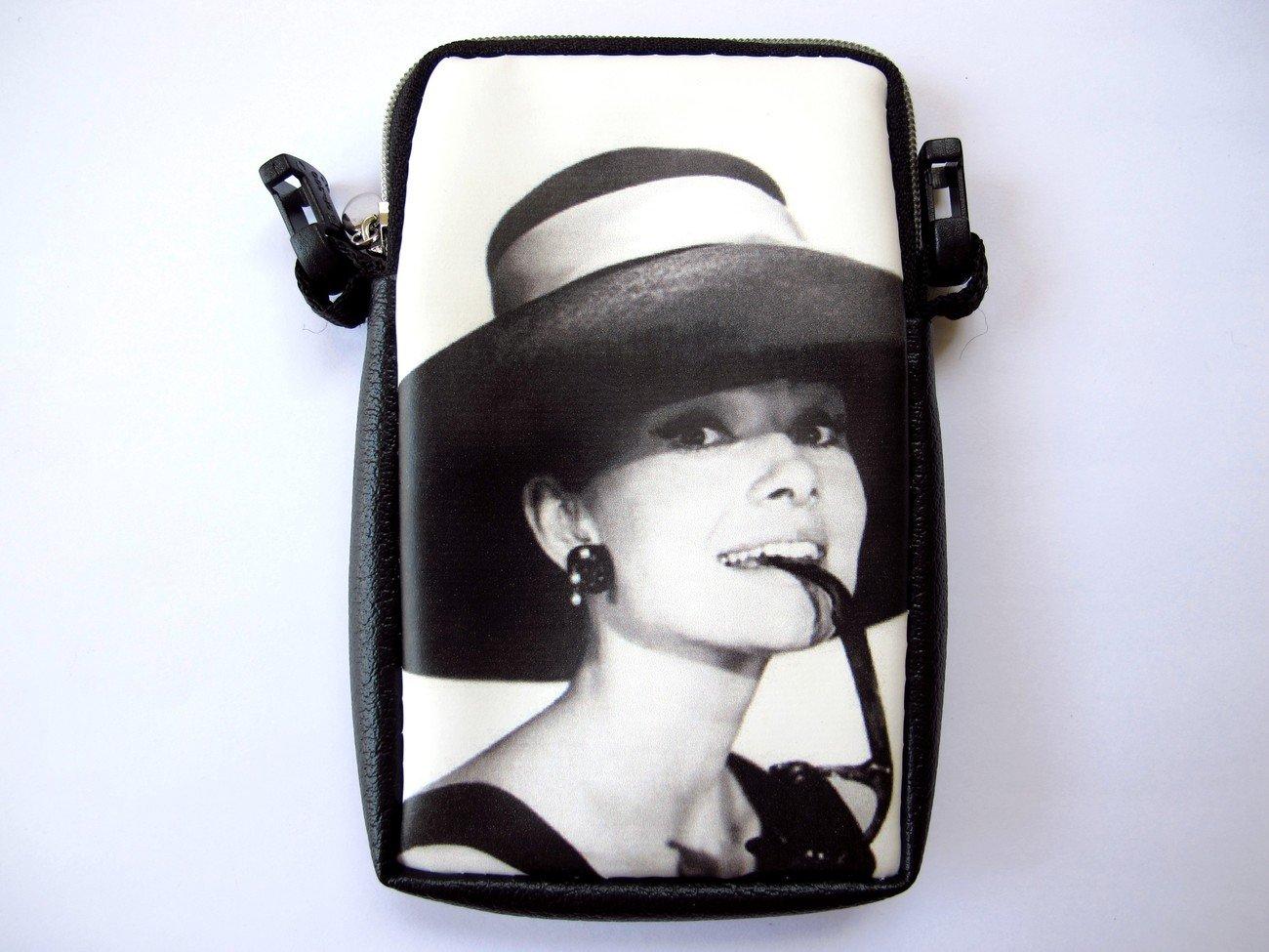 Audrey Hepburn Retro Mobile Phone MP3 MP4 iPod Case Pouch Bag