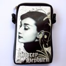 Audrey Hepburn Retro Mobile Phone Digital Camera Case Pouch Bag