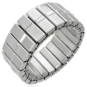 316L Stainless Stretchable Steel Panther Link Fashion Ring 9mm