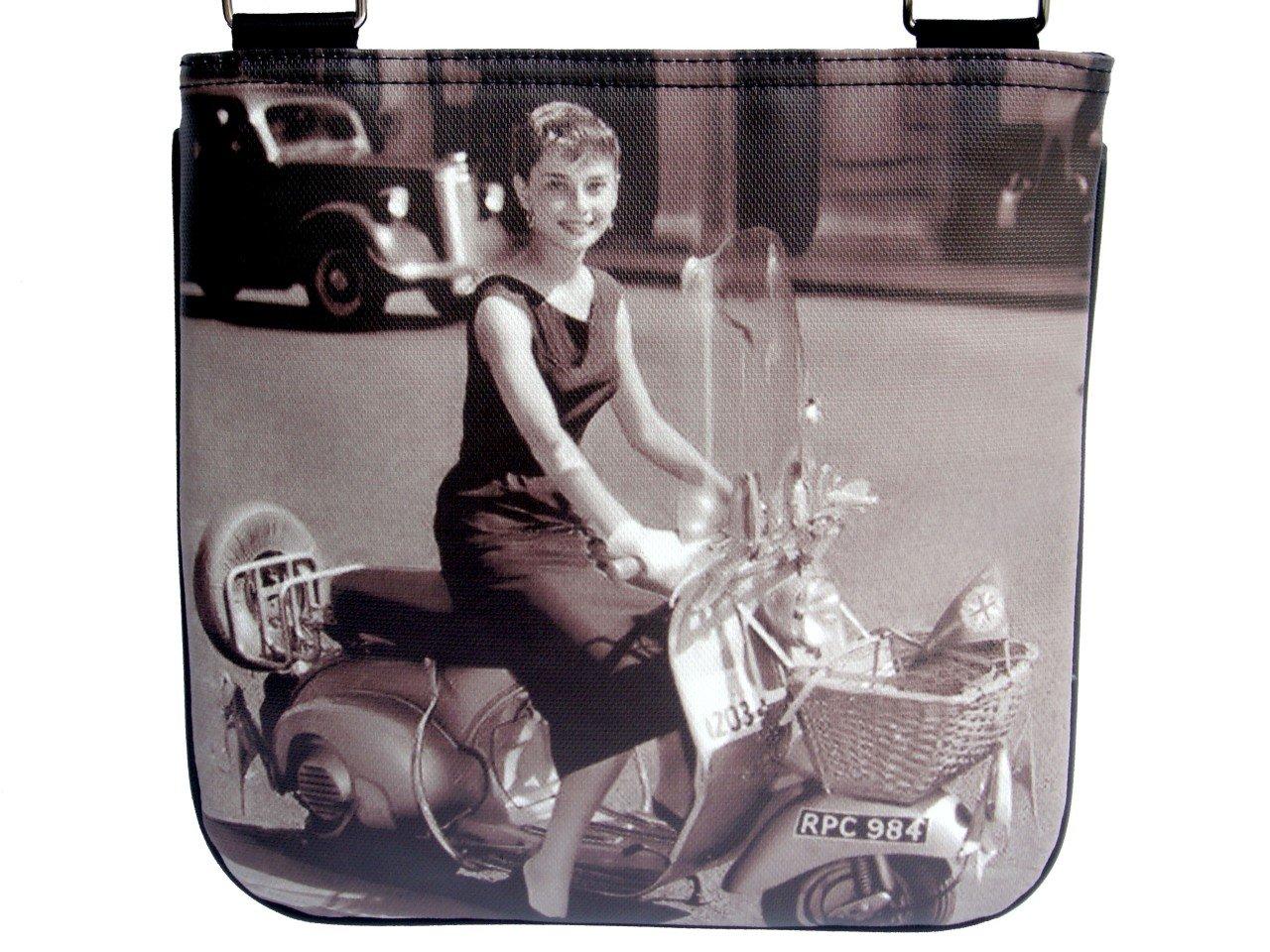 Audrey Hepburn Retro Classic Vespa Messenger Bag Purse
