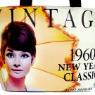 Audrey Hepburn Vintage 1960's Wide Tote Shoulder Bag Purse