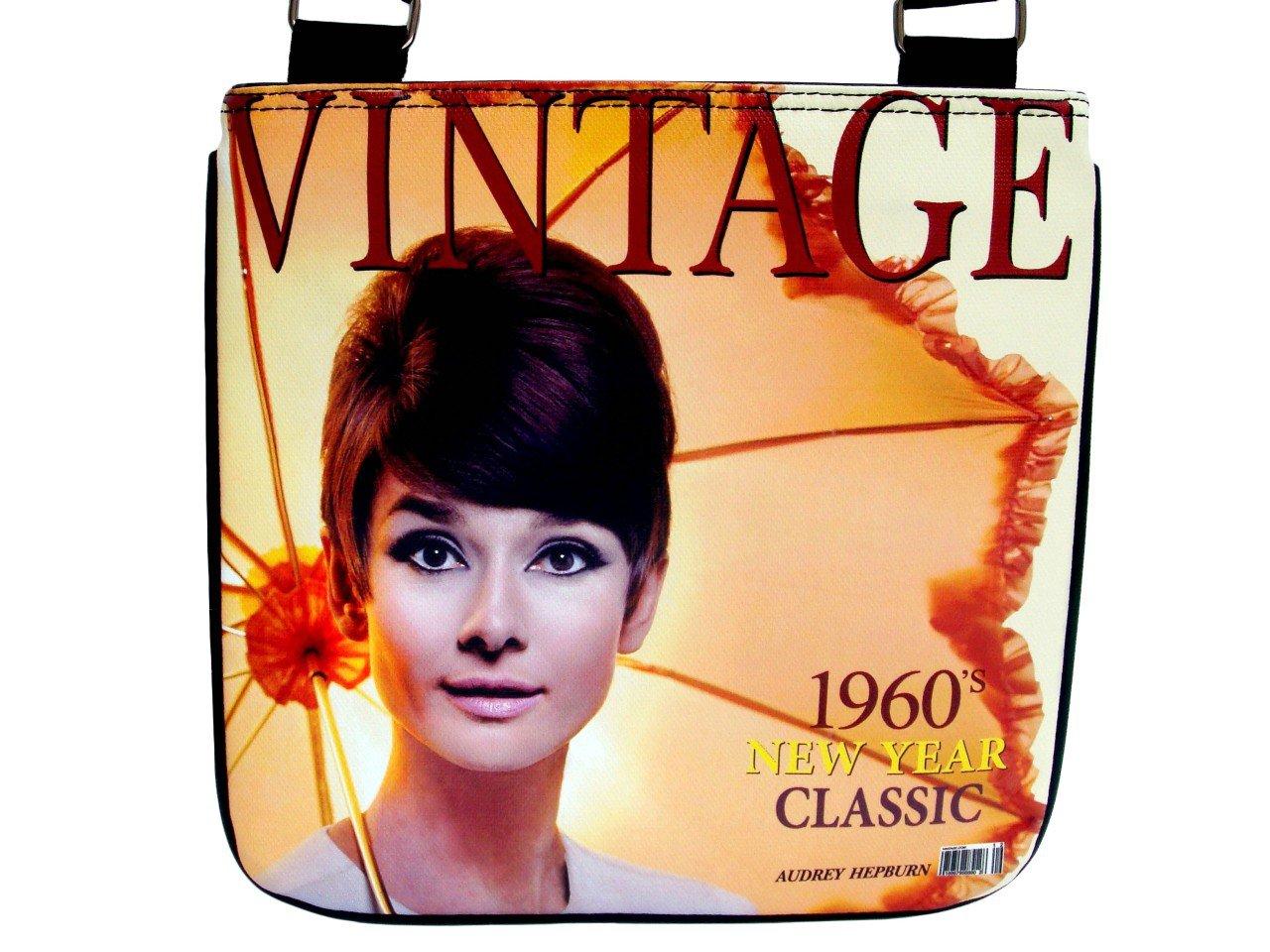 Audrey Hepburn Vintage Classic 1960's Messenger Bag Purse
