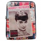 Audrey Hepburn Cover Magazine iPad 1 2 3 4 Mini Air Netbook Tablet Sleeve Case Cover Skin Bag