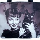 Audrey Hepburn Holding Cat Rare Classic Bag Purse Handbag
