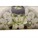 Audrey Hepburn Rare Filigree Travel Wallet Card ID Holder Bag