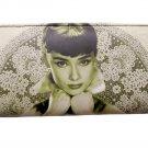 Audrey Hepburn Rare Filigree Travel Wallet Card ID Holder Bag