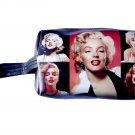 Marilyn Monroe Retro Photo Collage Make Up Lipstick Cosmetic Zip Around Bag