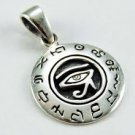 925 Sterling Silver Egyptian Eye of Horus Ra Udjat Charm Pendant