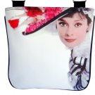 Audrey Hepburn Vintage Hat Retro Messenger Sling Bag Purse