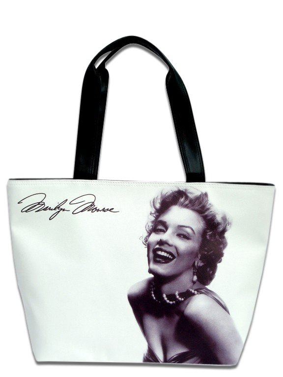 Marilyn Monroe Signature Classic Wide Tote Shoulder Bag Purse