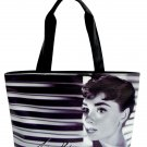 Audrey Hepburn Signature Classic Wide Tote Shoulder Bag Purse