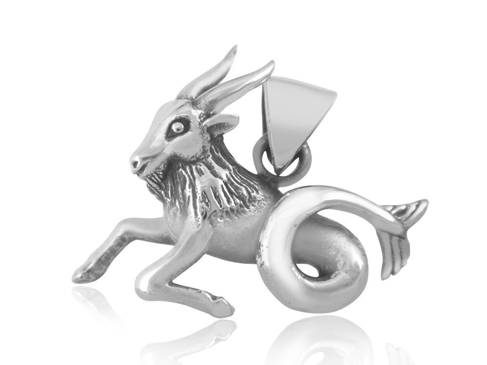 925 Sterling Silver Zodiac Horoscope Star Sign Capricorn Animal Charm Pendant