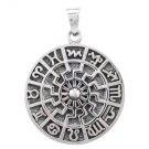 925 Sterling Silver German Schwarze Sonne Black Sun Pagan Slavic Zodiac Star Charm Pendant