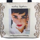 Audrey Hepburn Retro Icon Signature Tote Shoulder Bag Purse Handbag