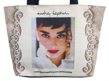 Audrey Hepburn Retro Icon Signature Tote Shoulder Bag Purse Handbag