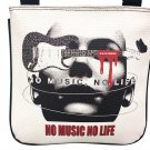 No Music No Life Guitar Cool Messenger Shoulder Sling Cross Body Bag Purse