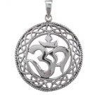 925 Sterling Silver Om Ohm Aum Mantra Hindu Yoga Brahman Spiritual Celtic Infinity Knots Pendant