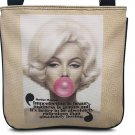Marilyn Monroe Retro Rare Bubble Gum Sling Cross Body Messenger Bag Purse