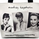 Audrey Hepburn Photo Collage Signature Tote Shoulder Bag Purse Handbag