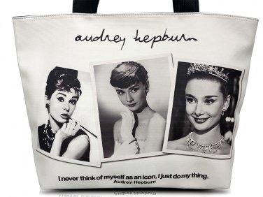 Audrey Hepburn Photo Collage Signature Tote Shoulder Bag Purse Handbag