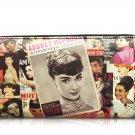 Audrey Hepburn Magazine Cover Girl Credit Card Money ID Holder Clutch Wallet Purse Bag