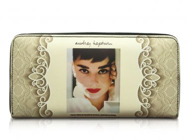 Audrey Hepburn Signature Cinema Icon Rare Money ID Holder Clutch Wallet Purse Bag