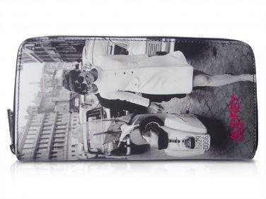 Audrey Hepburn In Rome Retro Rare Picture Money ID Holder Clutch Travel Wallet Purse Bag