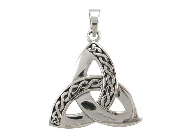 925 Sterling Silver Celtic Irish Infinity Knots Trinity Triquetra Knot Charm Pendant