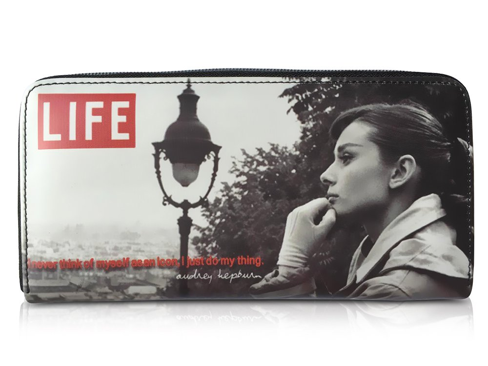 Audrey Hepburn Life Magazine Cover Money ID Holder Clutch Wallet Purse Bag