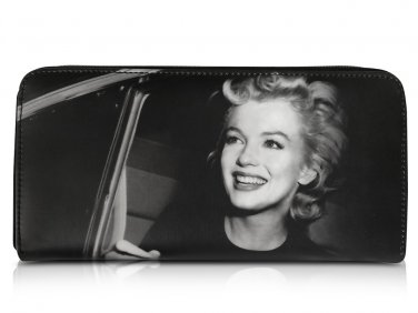 Marilyn Monroe In Car Retro Rare Picture Money ID Holder Clutch Black Wallet Purse Bag