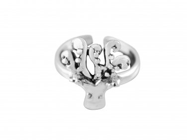 925 Sterling Silver Squid Octopus Sea Life Adjustable Pinky Toe Ring