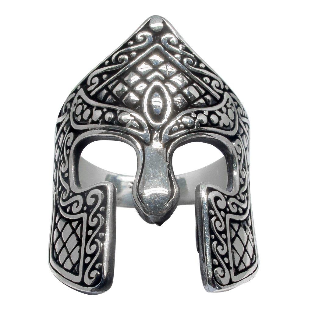 925 Sterling Silver Spartan Helmet Warrior 300 King Leonidas of Sparta Thermopylae Ring