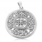 925 Sterling Silver Double Dorje Vajra Thunderbolt Mandala Tibetan Buddhism Amulet Pendant